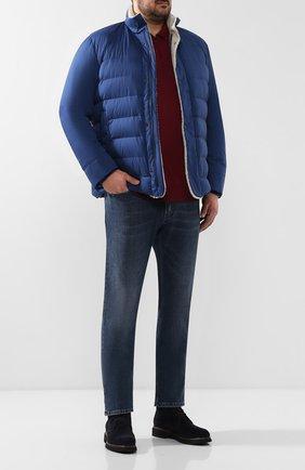 Мужские джинсы прямого кроя ANDREA CAMPAGNA синего цвета, арт. ACB0803333   Фото 2