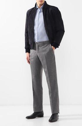 Мужские кожаные оксфорды BRIONI темно-синего цвета, арт. QEDZ0L/P8714 | Фото 2