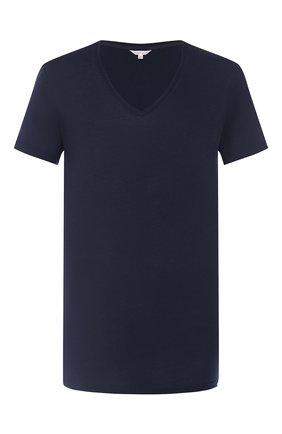 Мужские хлопковая футболка  ORLEBAR BROWN синего цвета, арт. 259648 | Фото 1