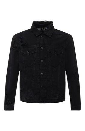 Джинсовая куртка Diesel черная | Фото №1