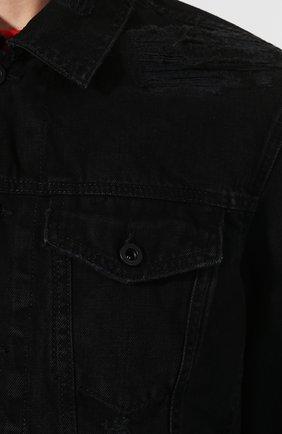 Джинсовая куртка Diesel черная | Фото №5
