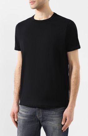 Хлопковая футболка  Diesel черная | Фото №3
