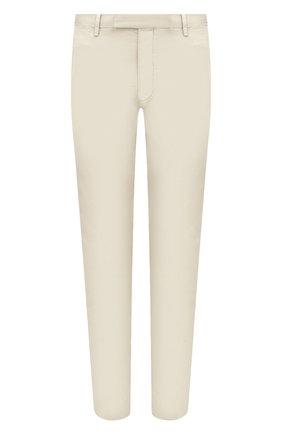 Мужские хлопковые брюки POLO RALPH LAUREN светло-бежевого цвета, арт. 710644988   Фото 1