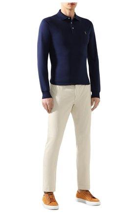 Мужские хлопковые брюки POLO RALPH LAUREN светло-бежевого цвета, арт. 710644988   Фото 2