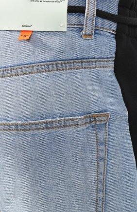 Джинсы прямого кроя Off-White голубые | Фото №5