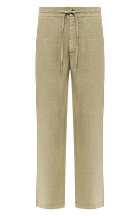 Мужской льняные брюки 120% LINO хаки цвета, арт. P0M2072/0253/001 | Фото 1