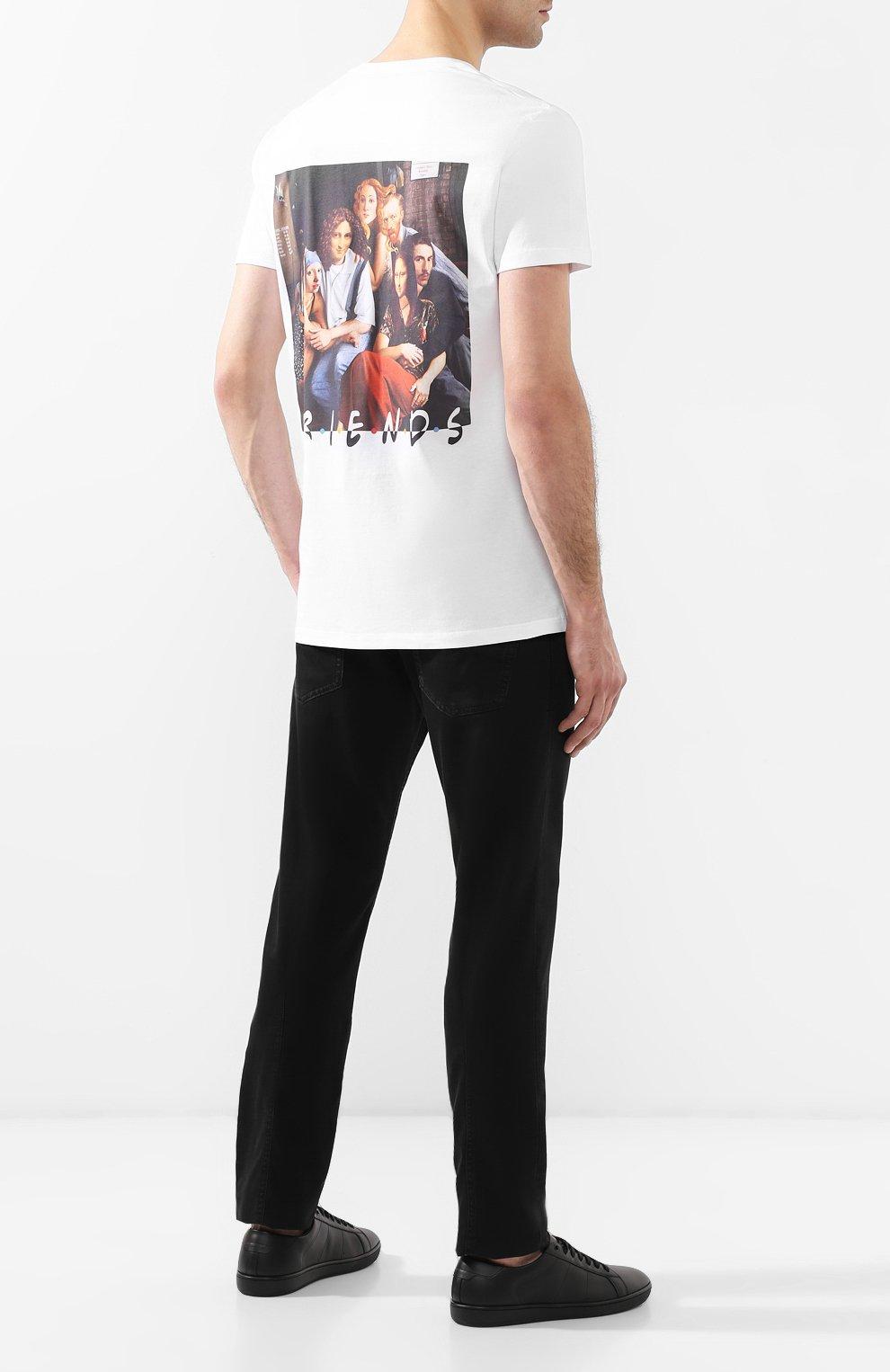 Хлопковая футболка  Diego Venturino белая | Фото №2
