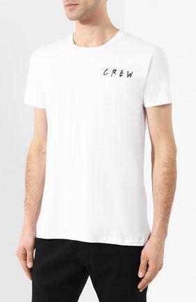 Хлопковая футболка  Diego Venturino белая | Фото №3