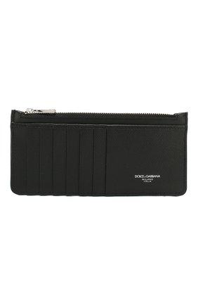 Мужской кожаный футляр для кредитных карт DOLCE & GABBANA черного цвета, арт. BP2172/AZ601 | Фото 1