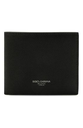 Мужской кожаное портмоне DOLCE & GABBANA черного цвета, арт. BP1321/AZ601 | Фото 1