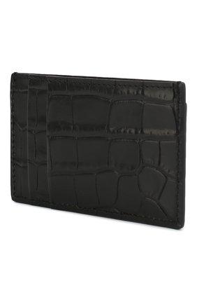 Мужской кожаный футляр для кредитных карт ALEXANDER MCQUEEN черного цвета, арт. 550855/DZT0Y | Фото 2
