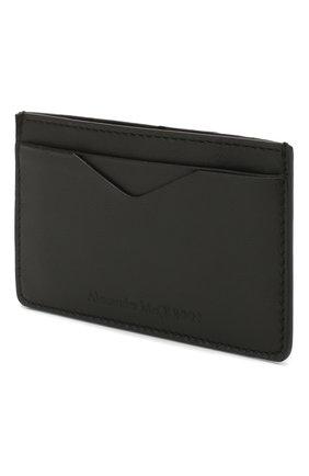 Мужской кожаный футляр для кредитных карт ALEXANDER MCQUEEN черного цвета, арт. 550832/AS000 | Фото 2