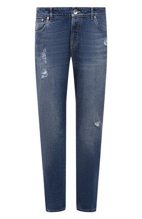 Мужские джинсы BRUNELLO CUCINELLI темно-синего цвета, арт. M283PZ2040 | Фото 1