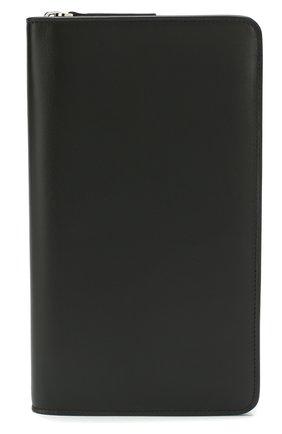 Мужская кожаный футляр для документов BRIONI черного цвета, арт. 0HQL0L/07710 | Фото 1