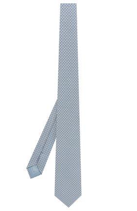Мужской комплект из галстука и платка BRIONI голубого цвета, арт. 08A900/P841M   Фото 2