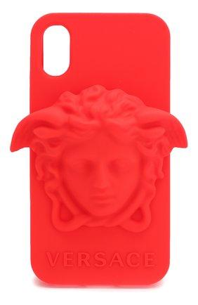 Мужской чехол для iphone x VERSACE красного цвета, арт. DPY7314M/DPCME | Фото 1