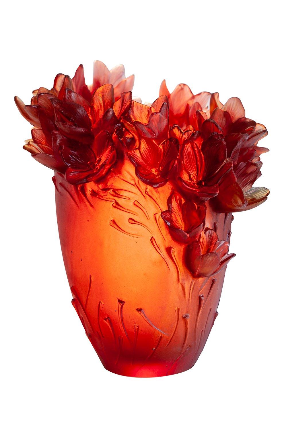 Мужского ваза safran large DAUM красного цвета, арт. 05604 | Фото 1
