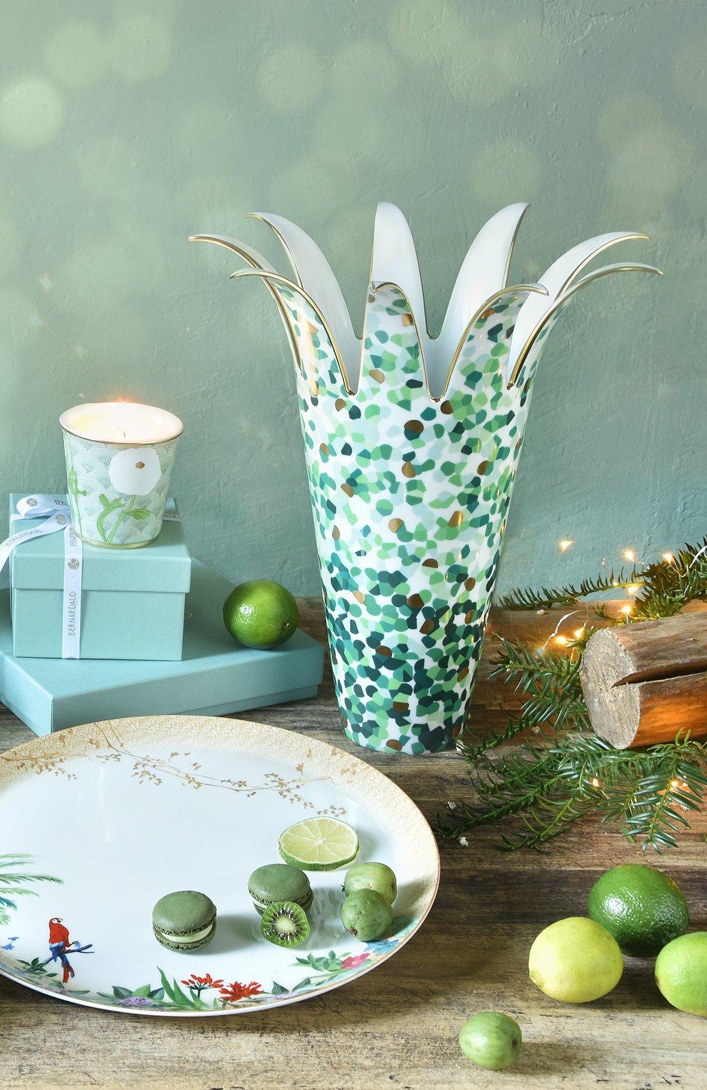 Мужского ваза marmorino BERNARDAUD зеленого цвета, арт. 2320/21851   Фото 2