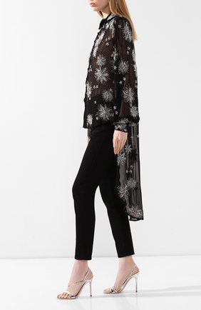Женские кожаные босоножки manhattan GIANVITO ROSSI серебряного цвета, арт. G30161.15RIC.METARGE   Фото 2