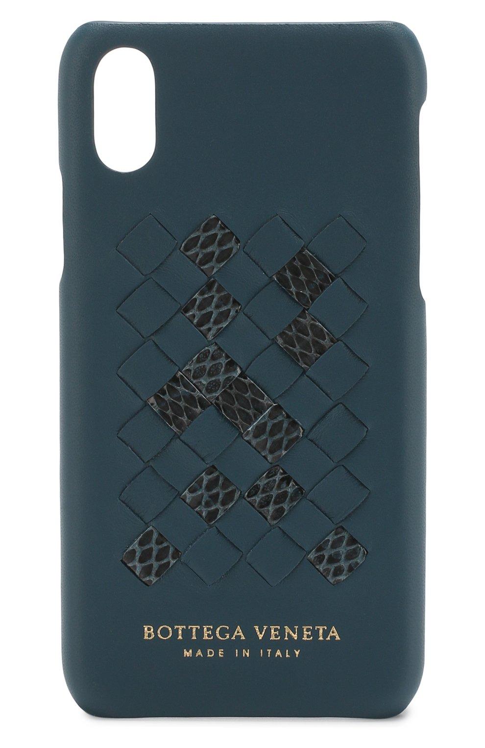 Кожаный чехол для iPhone X Bottega Veneta  | Фото №1