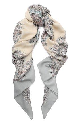 Женский платок из смеси кашемира и шелка MICHELE BINDA светло-серого цвета, арт. 21WS036605 | Фото 1