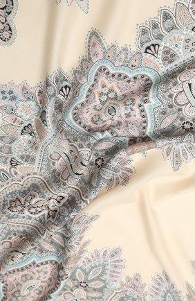 Женский платок из смеси кашемира и шелка MICHELE BINDA светло-серого цвета, арт. 21WS036605 | Фото 2