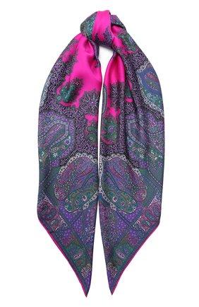 Женский шелковый платок MICHELE BINDA фиолетового цвета, арт. 21035717 | Фото 1