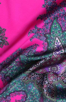 Женский шелковый платок MICHELE BINDA фиолетового цвета, арт. 21035717 | Фото 2