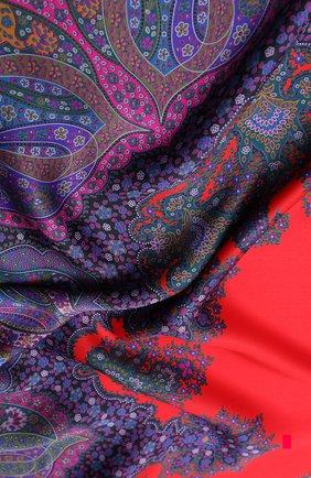 Женский шелковый платок MICHELE BINDA красного цвета, арт. 21035717 | Фото 2