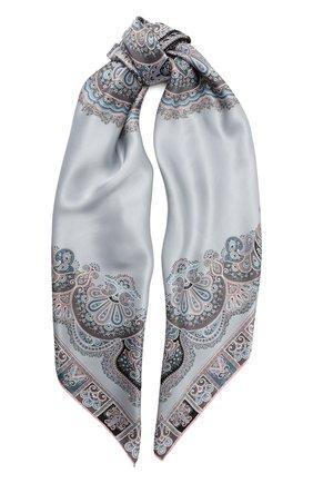 Женский шелковый платок MICHELE BINDA серого цвета, арт. 20036551 | Фото 1