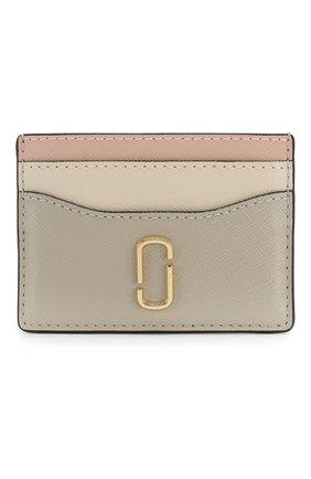 Женский кожаный футляр для кредитных карт snapshot  MARC JACOBS (THE) кремвого цвета, арт. M0014302 | Фото 1
