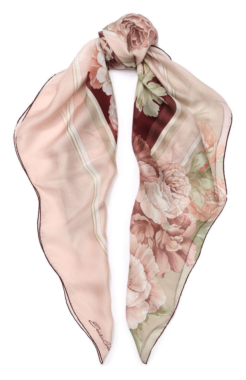 шелковый бордовый платок купить в москве