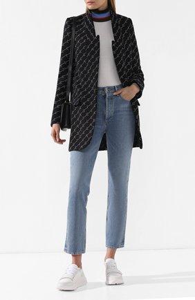 Женское шерстяное пальто STELLA MCCARTNEY черного цвета, арт. 554724/SMB11 | Фото 2