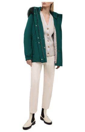 Кашемировая куртка с капюшоном | Фото №2