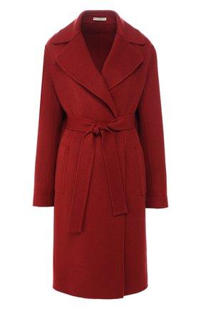 Кашемировое пальто с поясом | Фото №1