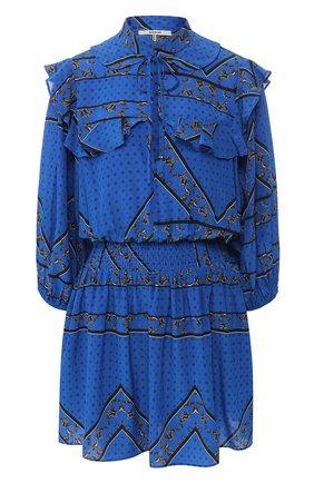 Шелковое платье с принтом | Фото №1