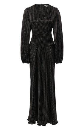Платье-макси в горох | Фото №1