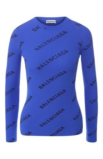 Пуловер с логотипом бренда