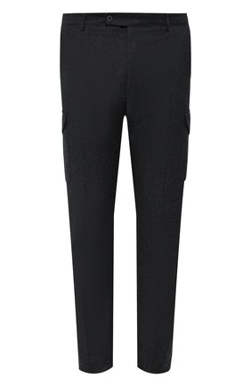 Мужской шерстяные брюки ANDREA CAMPAGNA темно-серого цвета, арт. M0RELL018 CARG0/RD5470   Фото 1