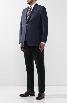Мужской шерстяные брюки ANDREA CAMPAGNA темно-серого цвета, арт. M0RELL018 CARG0/RD5470   Фото 2