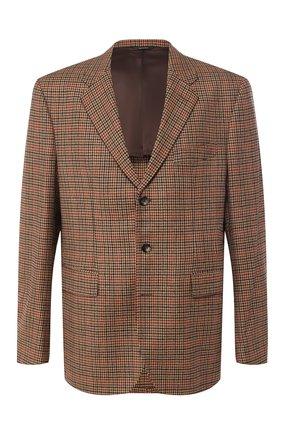 Мужской пиджак из смеси шерсти и кашемира LORO PIANA коричневого цвета, арт. FAI3395 | Фото 1