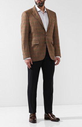Мужской пиджак из смеси шерсти и кашемира LORO PIANA коричневого цвета, арт. FAI3395 | Фото 2