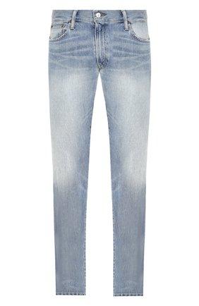 Мужские джинсы прямого кроя POLO RALPH LAUREN голубого цвета, арт. 710689307 | Фото 1