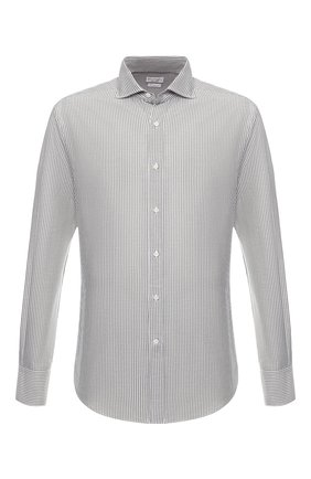 Рубашка из смеси льна и хлопка | Фото №1