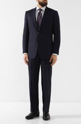 Мужской шерстяной костюм ZEGNA COUTURE темно-синего цвета, арт. 532N07/21L2N5 | Фото 1