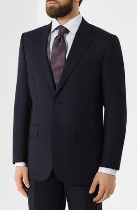 Мужской шерстяной костюм ZEGNA COUTURE темно-синего цвета, арт. 532N07/21L2N5 | Фото 2