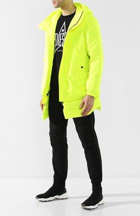 Куртка с капюшоном Diesel желтая | Фото №2
