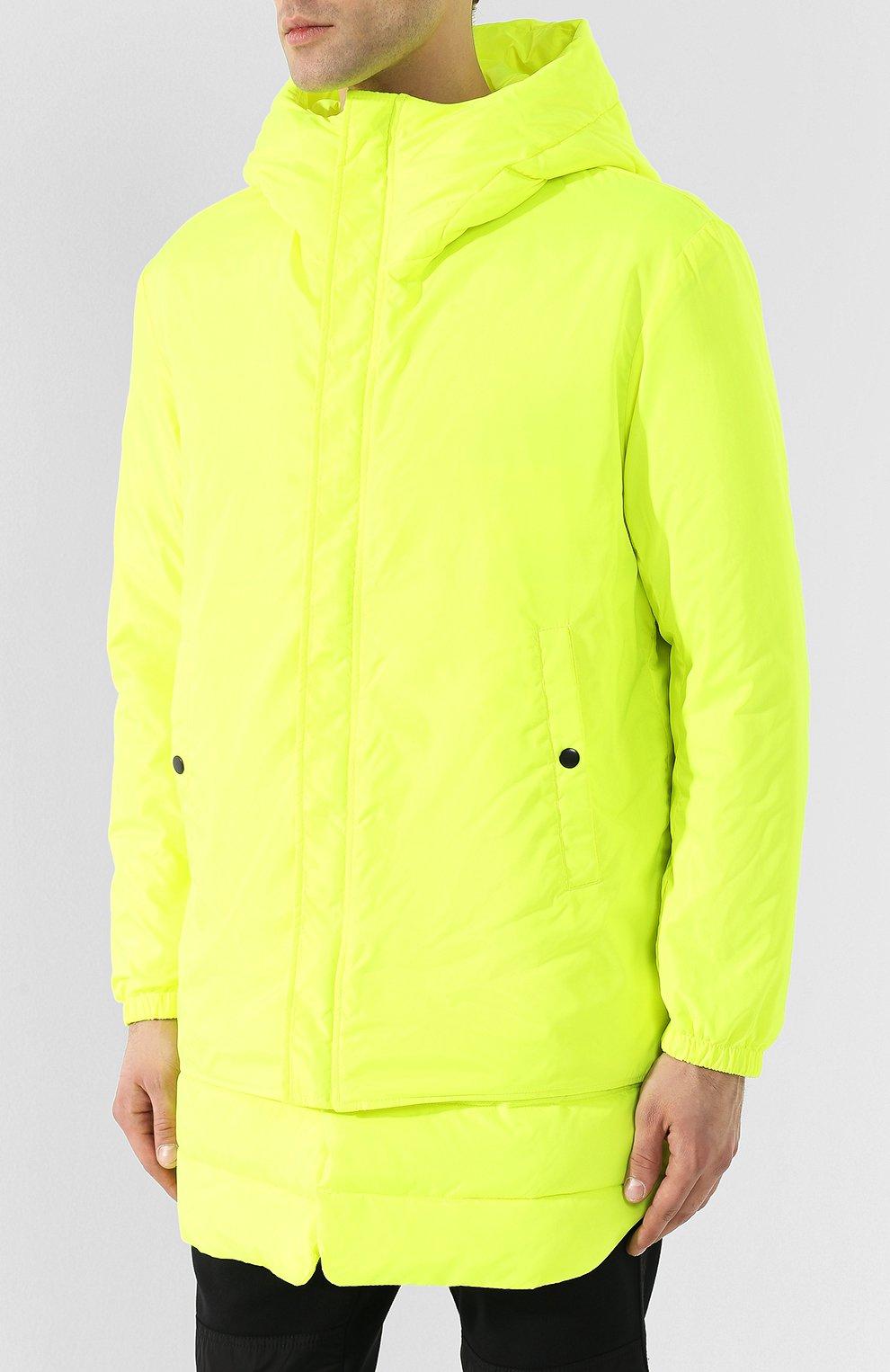 Куртка с капюшоном Diesel желтая | Фото №3