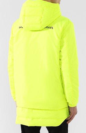 Куртка с капюшоном Diesel желтая | Фото №4