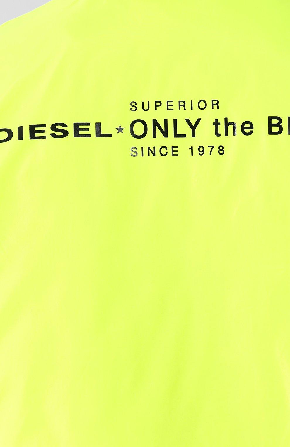 Куртка с капюшоном Diesel желтая | Фото №5